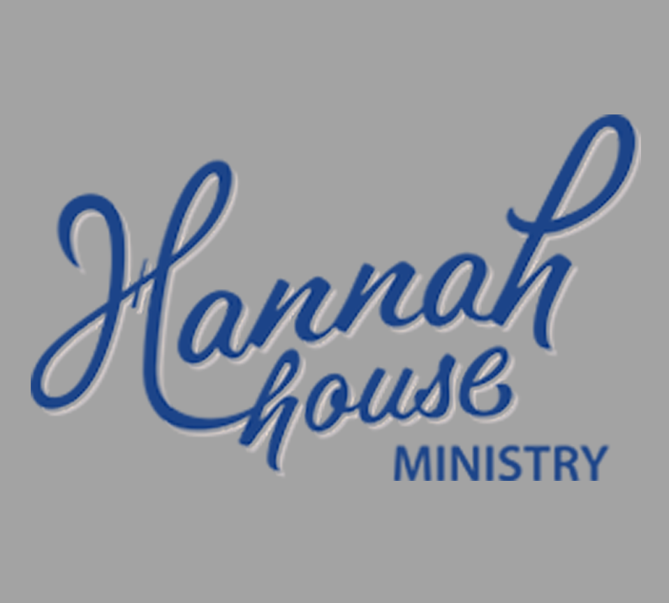 hannah house logo block blue on gray