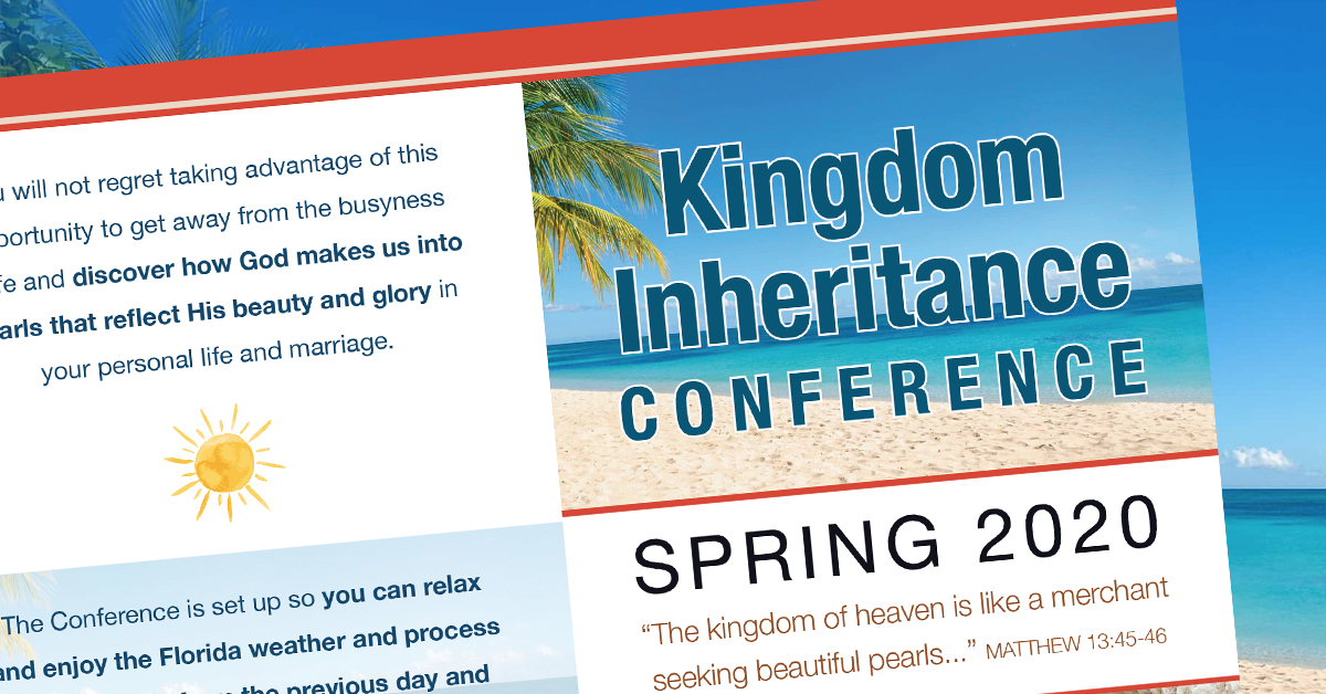 florida event kingdom inheritance conference header